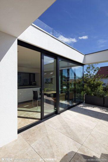 Hot Item Aluminium Black Frame Sliding Door With Double Tempered Glass Pnoc224sld Aluminium Sliding Doors Sliding Glass Door Tempered Glass Door