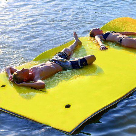 3 Layer Floating Water Pad Foam Mat Water Recreation Relaxing 9 X 6 Walmart Com In 2020 Water Pad Floating In Water Foam Mats