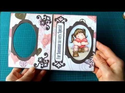 Peek-a-Boo Card Tutorial - Splitcoaststampers, beautiful card by Norma Lee, amazing embellishments