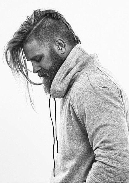 Undercut Hair Lang Unter Einfach Portrait Natürlich