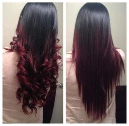56 Ideas For Hair Black Tumblr Photography Long Hair Styles Long Layered Hair Red Ombre Hair