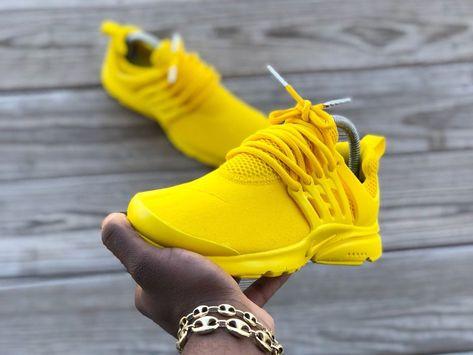 Custom Yellow Nike Prestos