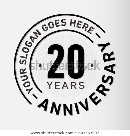 20 Years Anniversary Logo Template Vector And Illustration ロゴテンプレート 記念ロゴ ロゴデザイン