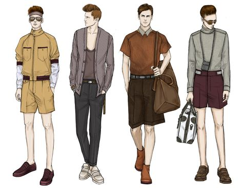Fashion Illustrator Mengjie Di: Stylesight SS 2014 REAL #MensFashionIllustration