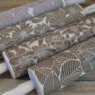 Small Size Wooden Roller Polymer Clay Rolling Pin Clay Tool for Ceramists
