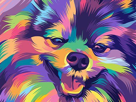 Puppy in vector pop art