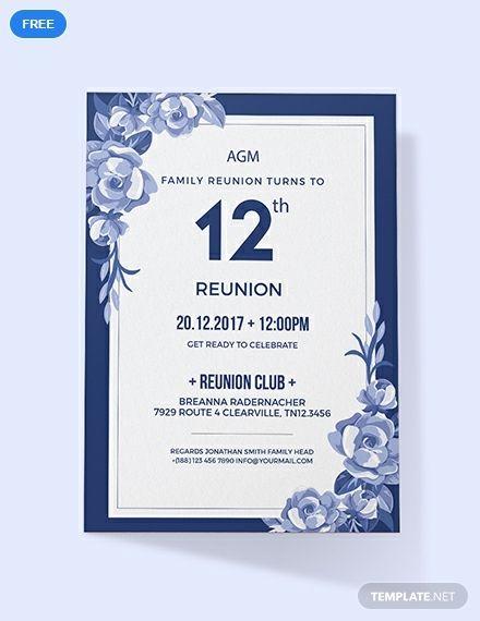 Free Family Reunion Invitation Reunion Invitations Family Reunion Invitations Invitations