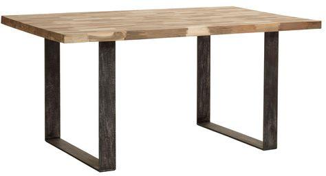 Table Teck Brossé Vague 170x100 Table Salle à Manger