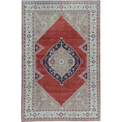 Bokara Rug Co Inc One Of A Kind Hand Knotted Red Gray 8 11 X 13 8 Wool Area Rug In 2021 Wool Area Rugs Area Rugs Rugs 11 x 13 area rugs