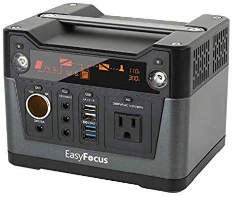 Amazon Com Easyfocus Portable Generator 280wh 75000mah Portable Power Station Usb3 0 12v 24v Dc Cpa Portable Power Generator Solar Generator Power Generator