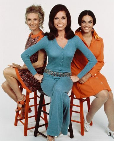 Cloris Leachman, Mary Tyler Moore and Valerie Harper from The Mary Tyler Moore show, 1970-77.