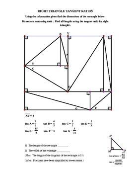 Right Triangle Trig Puzzler With Images Right Triangle