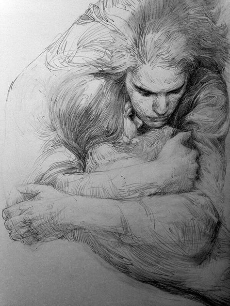 Layers in Pencil Portrait Drawings. Click the image, for more art by Zhang Weber.