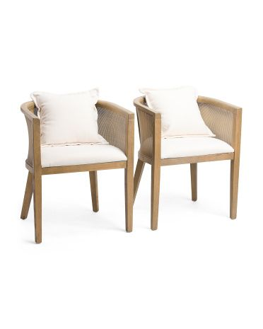 Set Of 2 Cane Round Back Chairs Accent Furniture T J Maxx In