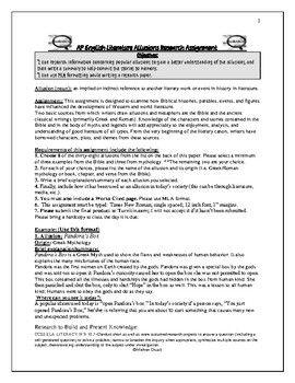 ap english literature + research paper