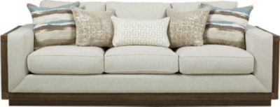 cindy crawford home pacific harbor beige sofa