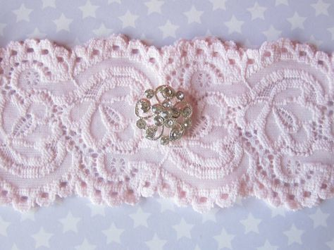 Pink Lace Wedding Garter from Etsy