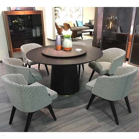 Modern Italy Designer Round Wooden Dining Table Set 6 Chairs View Dining Table Set Shann Product Details From Foshan City Shann Furniture Co Ltd On Alibaba Round Wooden Dining Table Wooden