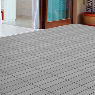 Freeport Park Tavon 12 X 12 Wood Interlocking Deck Tile In Honey Oak Wayfair In 2020 Deck Tile Interlocking Deck Tiles Pure Garden