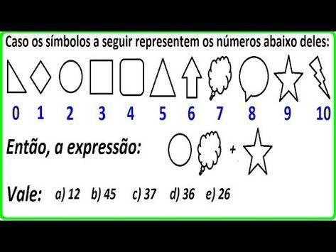Raciocinio Logico Sistema Numerico Simbolo Figura Psicotecnico Qi