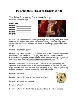 Polar Express Reader S Theater Script Readers Theater Scripts