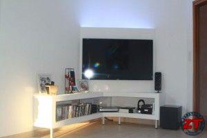 Meuble Tv En Placo Console Room Meuble Tv Angle Meuble