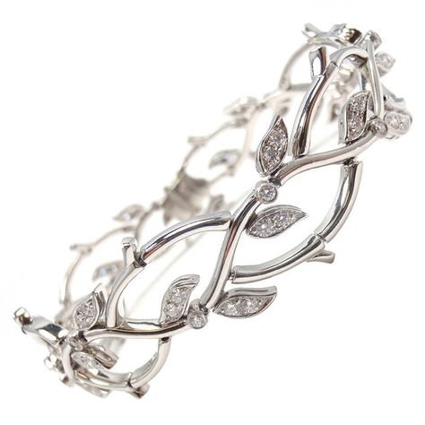 """Tiffany and Co. diamond and platinum bracelet """"garland collection"""" I'm not a big jewelry fan but I LOVE LOVE LOVE this!"""