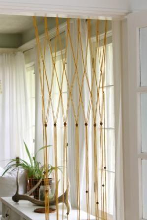 12 Diy Macrame Curtains Patterns Macrame Door Curtain Beaded