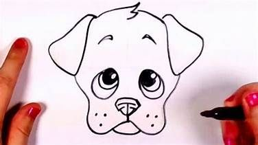 How to draw a simple dog and lion head - YouTube | Drawing