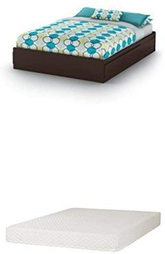 Best Seller South Shore Vito Queen Mates Bed 60 Chocolate Somea Queen Mattress Included Online In 2020 Queen Mattress Bed Headboard Wood White Queen Bed
