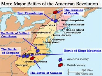 Revolutionary War Interactive Battle Map Part Ii And Worksheet W