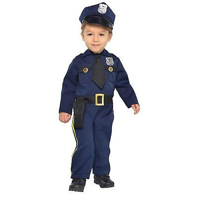 Police Officer Cop Recruit Infant Baby Costume Size 12 24 Months Cop Costume For Kids Police Costume Kids Police Officer Costume