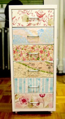 pretty file cabinet  Of course, it is fabric, but.......