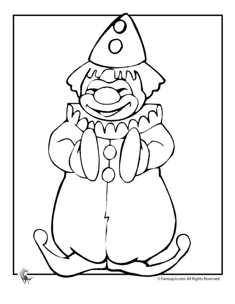 Clown Coloring Pages Circus Coloring Pages Clowns Clown