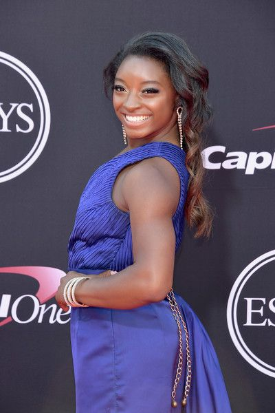 Olympic gymnast Simone Biles attends the 2017 ESPYS.