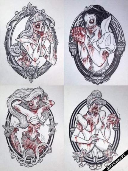 Nice Disney Tattoo Zombie Princess Disney Tattoos Zombie Princess Zombie Tattoos