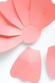 Como Hacer Flores De Papel 2018 Tutoriales Con Fotos Paso A Paso Como Hacer Flores De Papel Plantilla De Flor De Papel Manualidades