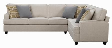 Emmett Collection 501000 120 Sectional Sofa With Removable Seat And Back Cushions Accent Pillows Sectional Sofa Linen Sectional Sectional