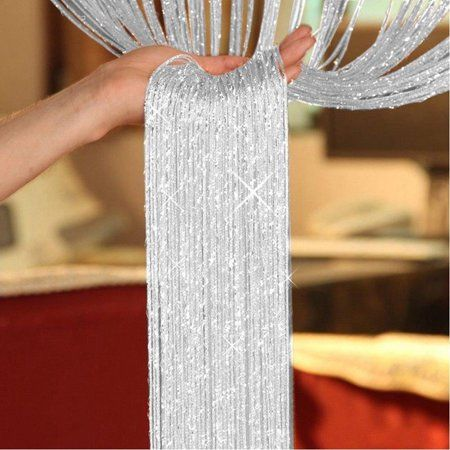Buy Fashion String Sparkle Curtains Fly Screen Fringe Tassel Curtain Room Divider Door Window Decor at Wish - Shopping Made Fun Door Dividers, Room Divider Doors, Folding Room Dividers, Room Divider Curtain, Room Doors, Diy Room Divider, Panel Divider, Divider Cabinet, String Curtains