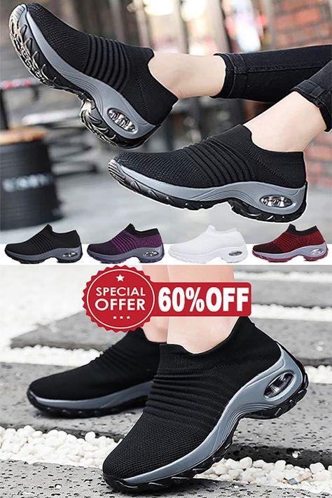 60% Off >> Women's Walking Shoes Sock Sneakers