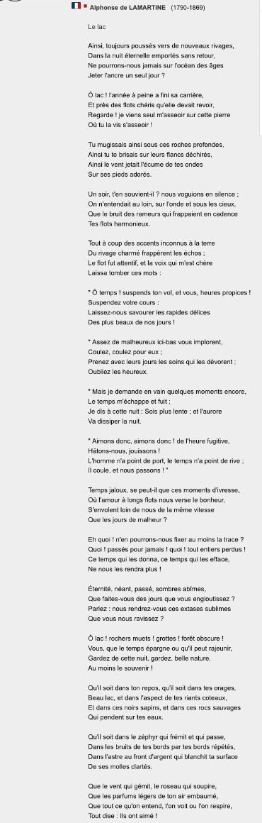 Alphonse De Lamartine Le Lac : alphonse, lamartine, Alphonse, Lamartine