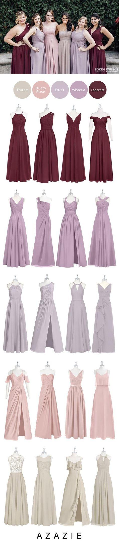 828948eba98 Azazie Top 5 Fall Color Set (5 shades   5 fabrics) - Bridesmaid dress