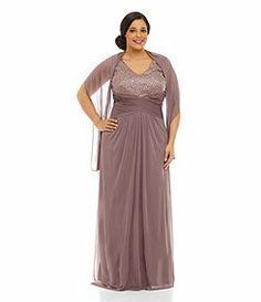 adrianna papell woman laceyoke gown #dillards | plus size fashion