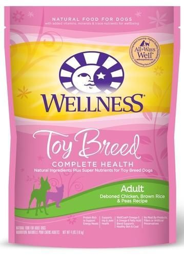 Wellness Complete Health Toy Breed Chicken Dry Dog Food 4 Lbs