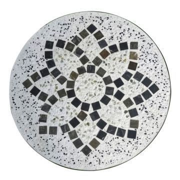 Mosaiktisch Aus Naturstein Kaleidoskop Hellgrau Braun O 60