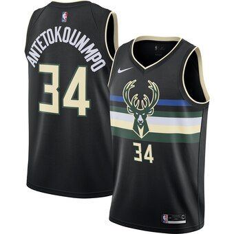 Men S Milwaukee Bucks Giannis Antetokounmpo Nike Cream 2019 20 Finished Swingman Jersey City Edition Milwaukee Bucks Black Nikes Jersey