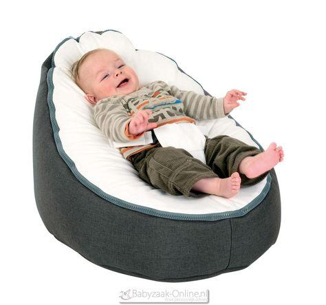 Baby Zitzak Doomoo.Doomoo Seat Home Grey White Zitzak Babykamer Kinderstoel