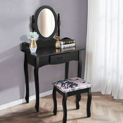 Advertisement Versatile Vanity Makeup Dressing Table Stool Set W Mirror Assembly Required In 2020 Dressing Table With Stool Makeup Dressing Table Vanity Table Set