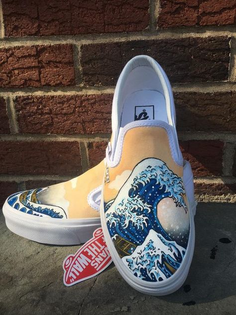 Vans Custom Shoe Design - The Great Wave!