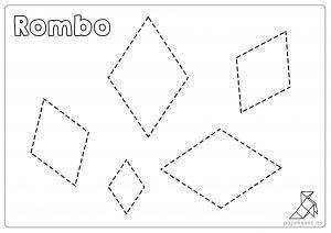 Ficha Rombos Para Repasar Y Colorear Ninos Fichas Figuras Geometricas Figuras Geometricas Para Ninos